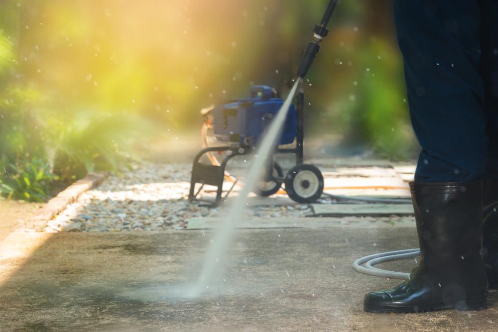 wellington concrete driveway pressure cleaning